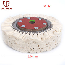 8 200mm Cotton Airway Buffing Polishing Wheel Cloth Pad For Grinder Tools 66 Plys 100pcs cloth polishing wheel buffer pad cotton for buff dremel accessory for jewelry mold cavity medical equipmen antique bronze