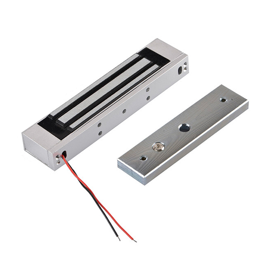 Magnetic Lock Access Control System 280KG 600LB Holding Force DC 12V Electric Electromagnetic Magnetic Locks With LED LightMagnetic Lock Access Control System 280KG 600LB Holding Force DC 12V Electric Electromagnetic Magnetic Locks With LED Light