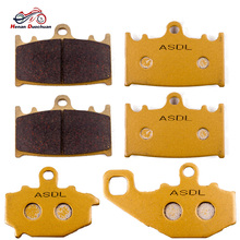 Motorcycle Front and Rear Brake Pads Set for Kawasaki ZR400 Zephyr ZZR400 ZZR600 ZX-6R ZX400 ZX600 ZR ZX 400 600 ZZR 400 600 цены