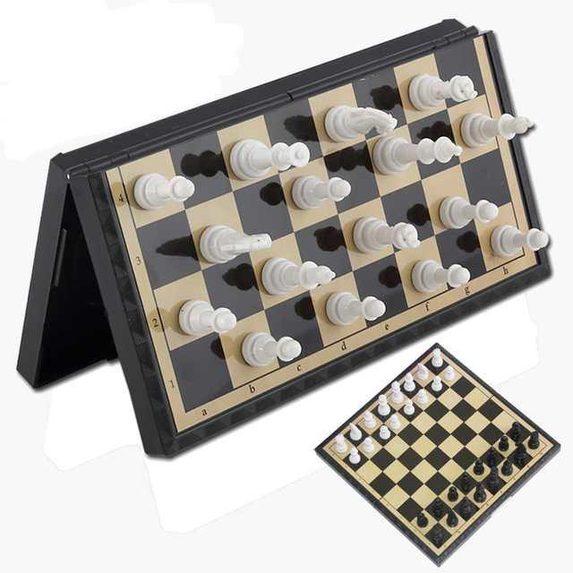 3 In 1 Foldable Magnetik Papan Catur Set Outdoor Perjalanan Catur Backgammon Mainan Anak-anak Secara Intelektual Pengembangan Belajar Chessmen Hadiah