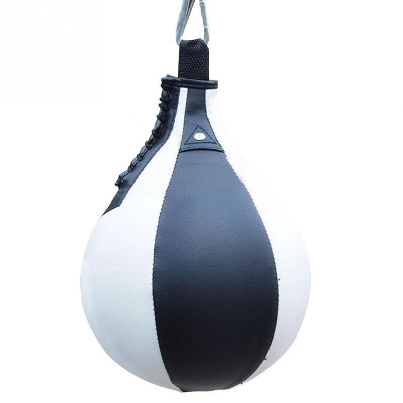 Leather Speed Ball Pear Shape Boxing Punch Bag /& Swivel MMA Punching Dodge Ball