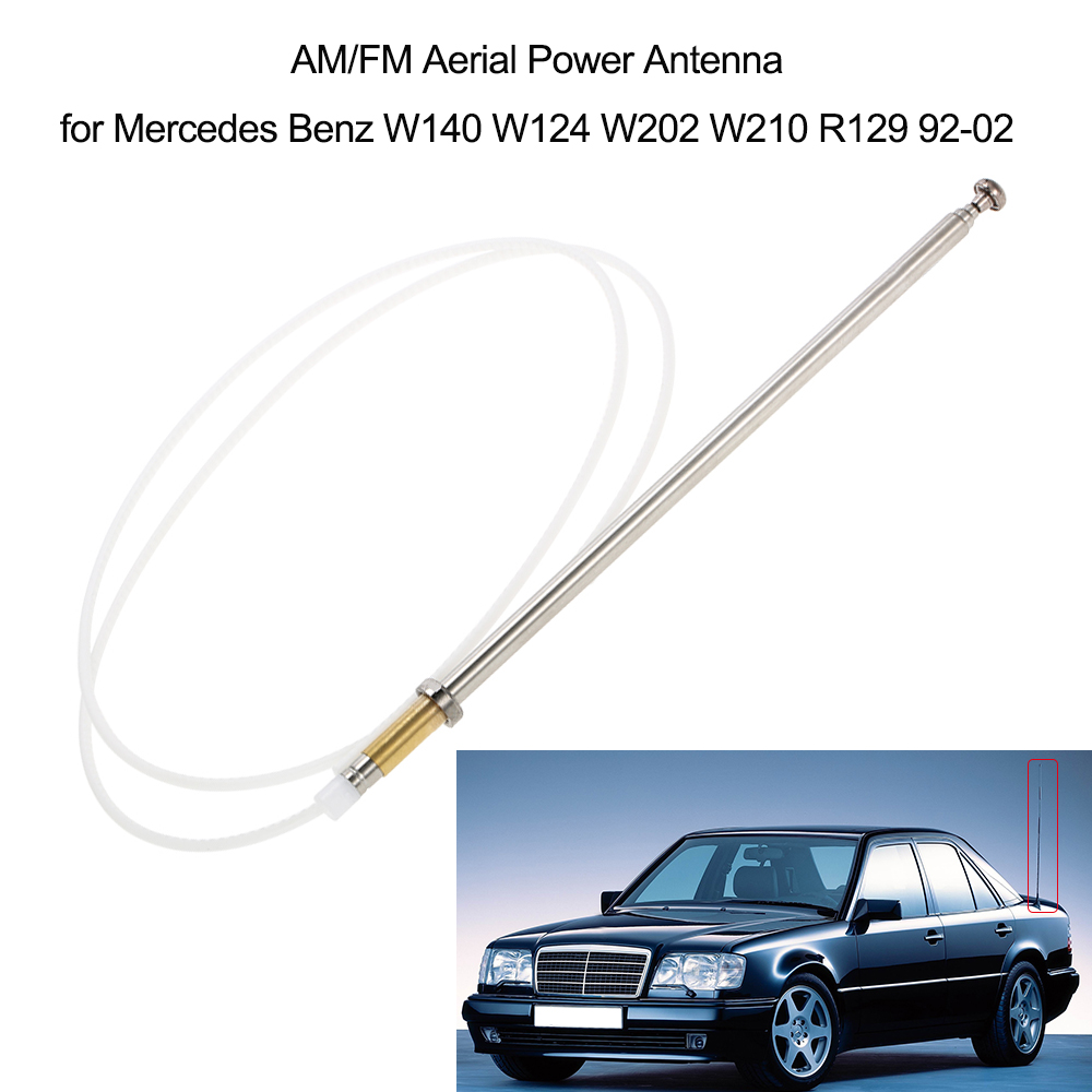 US $7 94 33% OFF|Car Replacement Automatic Signal AM/FM Radio Antenna Mast  for Mercedes Benz W140 W124 W202 W210 R129 92 02-in Aerials from