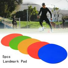 5PCS Round Rubber Flat Cones Training Spot Markers Football Pitch Floor Discs Wear-resistant Landmark Pad Sports Entertainment