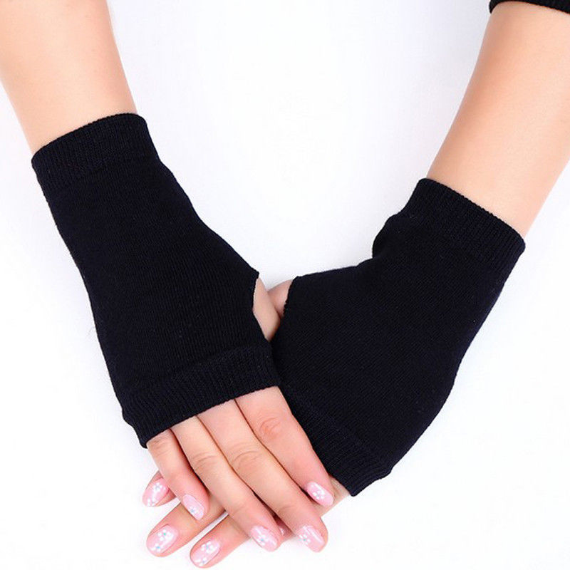 Women Stylish Hand Warmer Winter Gloves Women Arm Crochet Knitting Cotton Mitten Warm Fingerless Gloves Gants Femme-in Women's Gloves from Apparel Accessories on AliExpress