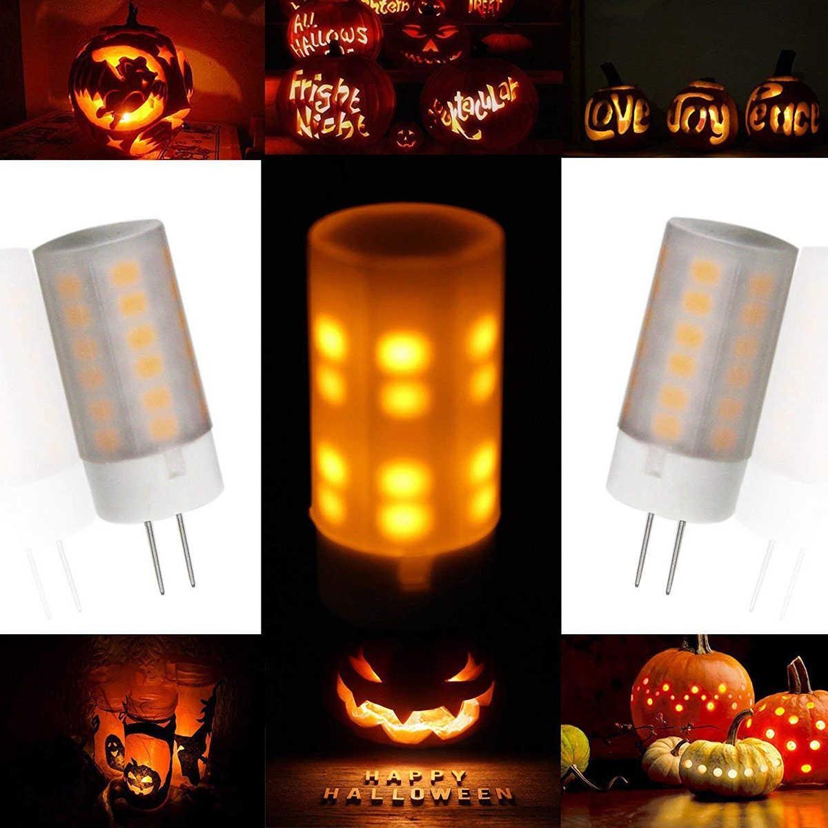 2Pcs 3W 230 Lm G4 LED Lampu 36 LED SMD 2835 Api Efek Hangat Putih DC 12V Putih Hangat untuk Kamar Tidur Ruang Tamu Kantor