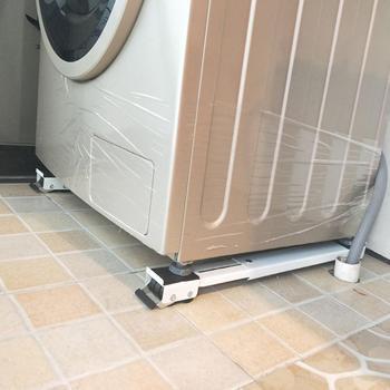 홈 유니버설 모바일 스토리지 랙 냉장고 세탁기 기본 조정 길이 가전 욕실 랙 주최자