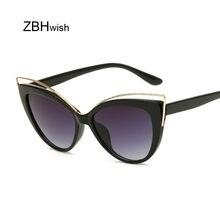 Lunettes de soleil yeux de chat pour femmes, noires, marque de luxe, styliste, Vintage, monture complète, Style