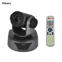 Aibecy Video Conference Cam Camera Full HD 1080P Fixed Focus Zoom 105 Degree Wide Viewing with 2.0 USB Web Cable Remote Control(China)