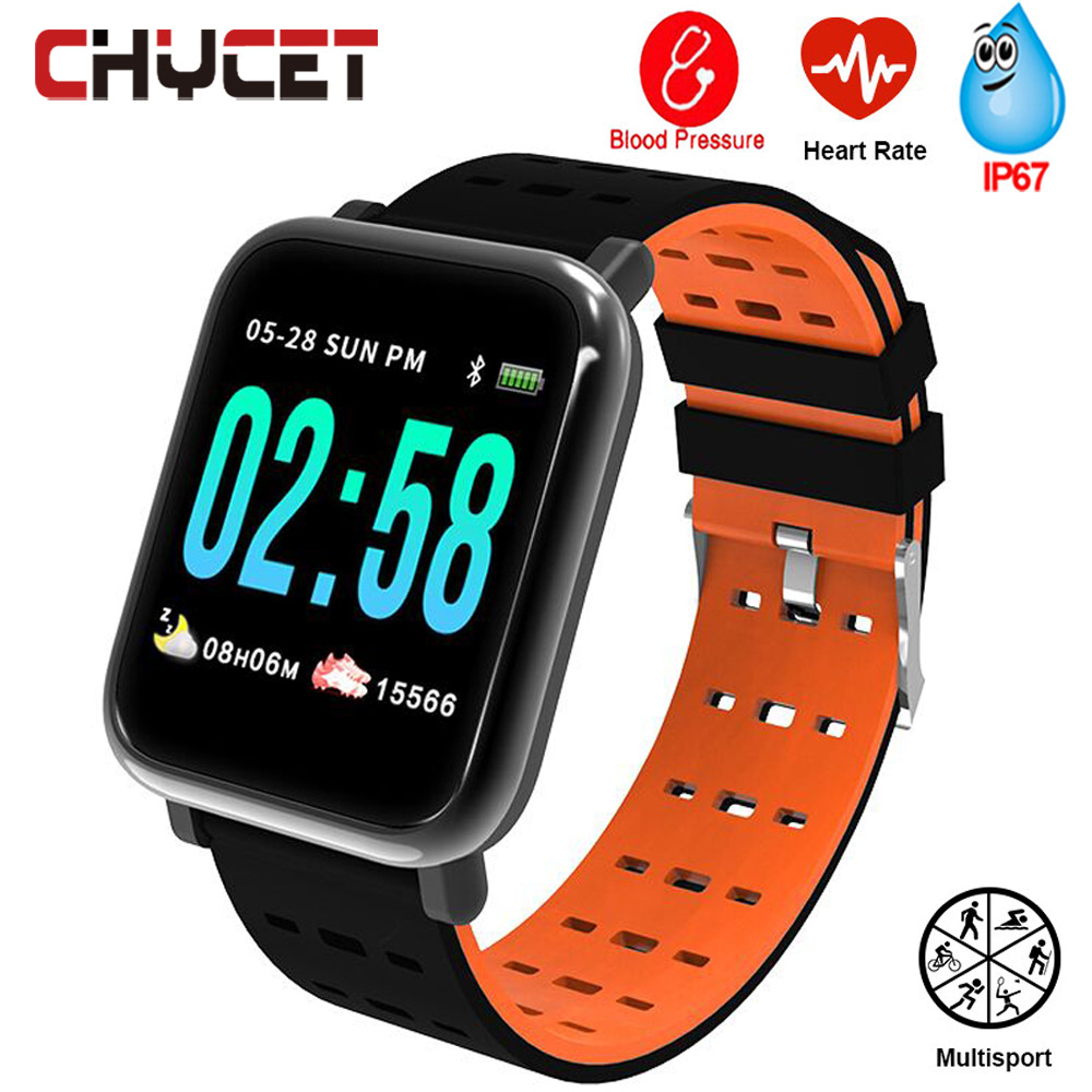חכם שעון גברים נשים לחץ דם שעון עמיד למים GPS Smartwatch כושר Tracker שעונים לביש מכשיר עבור אנדרואיד IOS