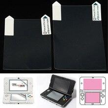 3 в 1 прозрачной верхней и нижней чехол для ЖК-панели пленка для нового Nintend 3DS до защита экрана+ Touc h защита экрана+ Ткань для очистки