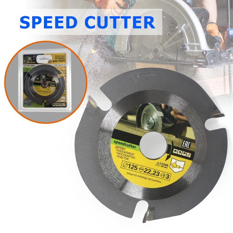125mm Multi-functional Carbide Circular Saw Blade Cutting Disc Wood Cutting Wheel Grinder Grinding Tool