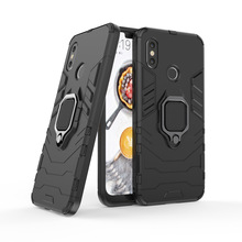 Conelz For Xiaomi Mi 8 Case SE Armor with Grip Ring Holder Stand 360 Rotatable Magnetic Back Cover Shockproof