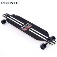 PUENTE Fashionable Skate Board Long Skateboard Four wheel Roller Scooter Travel Tools Longboard 6 Colors