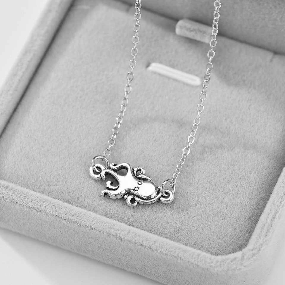 YANGQI 2019 New Arrival Octopus Pendant Necklace For Women Animal Serious Silver Color Charm Necklace Trendy Jewelry Female
