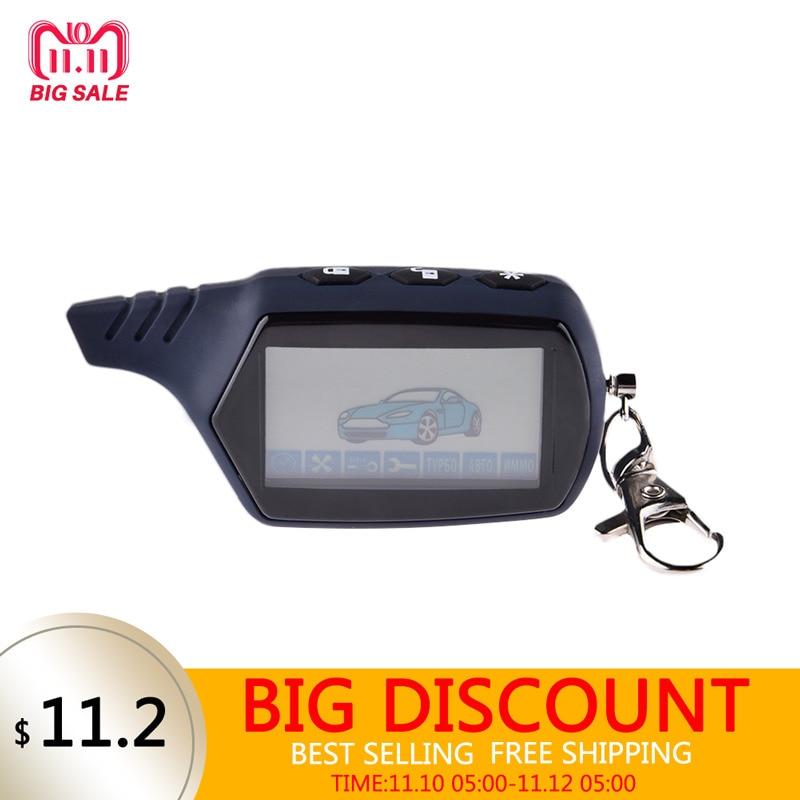 LCD Remote Controller 2 Way Car Alarm Key For Starline 91 Engine Starter Starline A91 Fob Keychain Body Remote автосигнализация без автозапуска starline a63