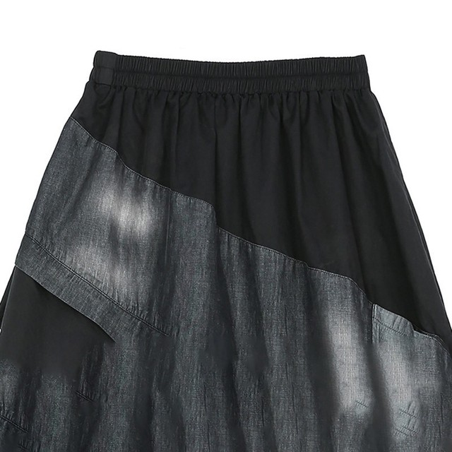 Spring Spliced Irregular Patch Denim Pants 6