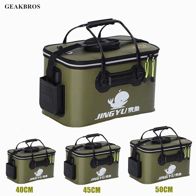 Cheap Portable Fishing Bags Fish Wear Bucket Gear Outdoor EVA Fishing Bucket Folding Portable Camping Hiking Bucket 30/35/40/45/50cm