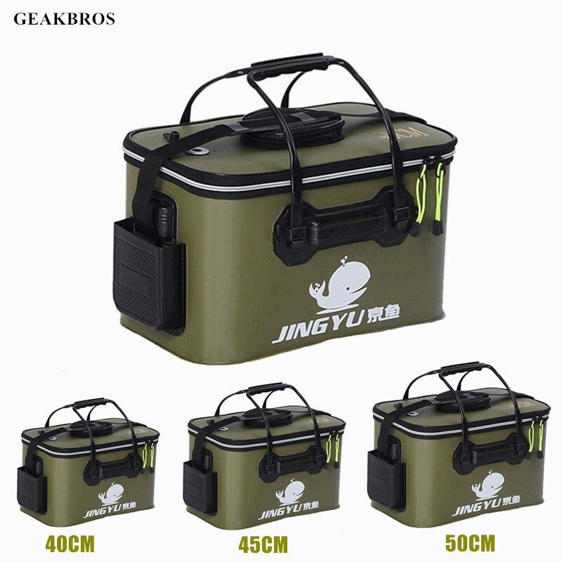Portable Fishing Bags Fish Wear Bucket Gear Outdoor EVA Fishing Bucket Folding Portable font b Camping