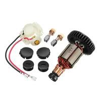 Carbon Brush+Brush Holder+Caps+Armature +Cap Cover for Makita 619218 8 619218B8 BGA450 BGA452 DGA452 Power Tool Kit Freeshipping