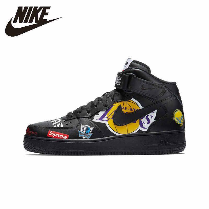 Nike Air Force Supreme NBA AF1 hombres zapatos de skateboard
