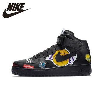 e52b7f2c Nike Air Force Верховный NBA AF1 Для мужчин Скейтбординг обувь оригинальной  аутентичной Спорт на открытом воздухе кроссовки Новое поступление AQ8017
