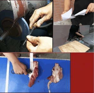 Image 5 - Thép Carbon cao cấp Cố Định Cắt Lông Dao dành cho Cắm Trại Ngoài Trời & Săn Bắn Chiến Thuật Quân Sự Sinh Tồn Dao với Da Vỏ Bọc
