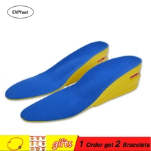 Height increase insoles for men/women 3.5/5/6cm up invisiable arch support orthopedic insoles shock absorption beige/black color