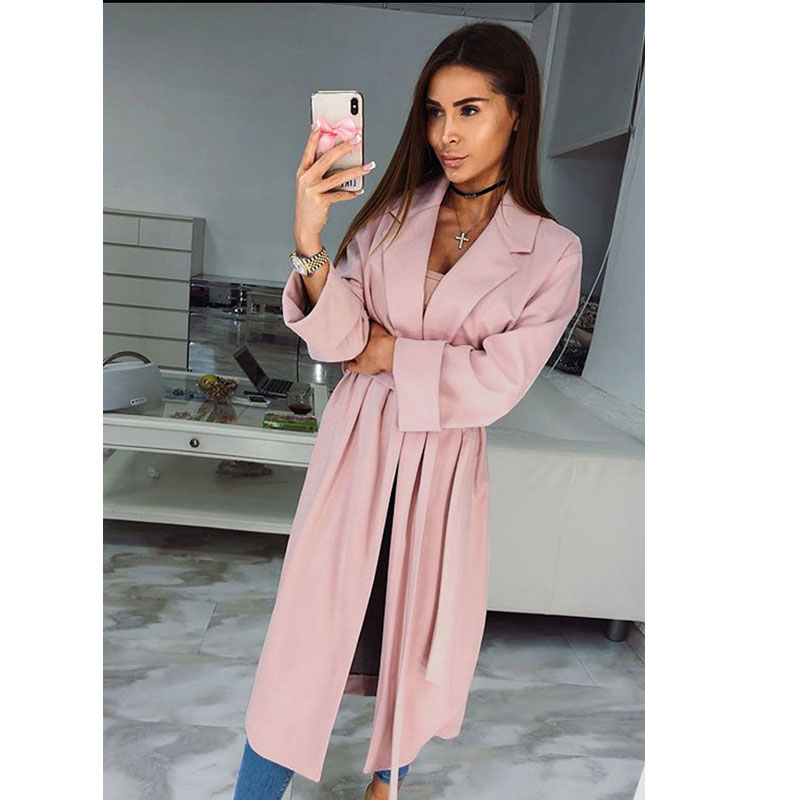 Women Long Sleeve Knitted Cardigan Loose Casual Sweater Outwear Coat   Trench