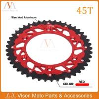 45T 47T 48T 49T 50T 51T 52T CNC Rear Chain Sprocket For CRF150F CR250R CRF250R XR250R CRF450R XR650R XL250 Dirt Bike Motocross