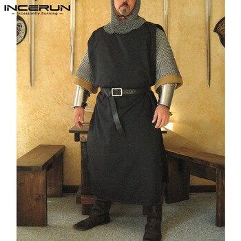 b6bd74dc41a3 INCERUN hombres Medieval Caballero Guerrero Heraldry SCA Surcoat ...