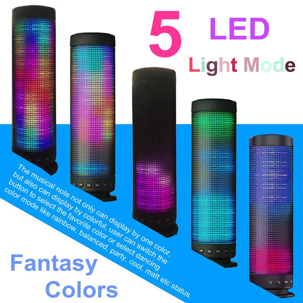 Portable 3D Pulse 4.0 Wireless bluetooth Speaker LED lights Colorful Music TF Card 3.5mm Aux Handsfree Stereo Metal SpeakerPortable 3D Pulse 4.0 Wireless bluetooth Speaker LED lights Colorful Music TF Card 3.5mm Aux Handsfree Stereo Metal Speaker