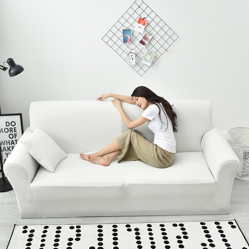 Marvelous Us 39 8 30 Off White Waterproof Stretch Sofa Slipcover 1 Piece Stretchable Fabric Couch Cover Flocked Pattern Fitted Couch Slipcover In Sofa Cover Pdpeps Interior Chair Design Pdpepsorg