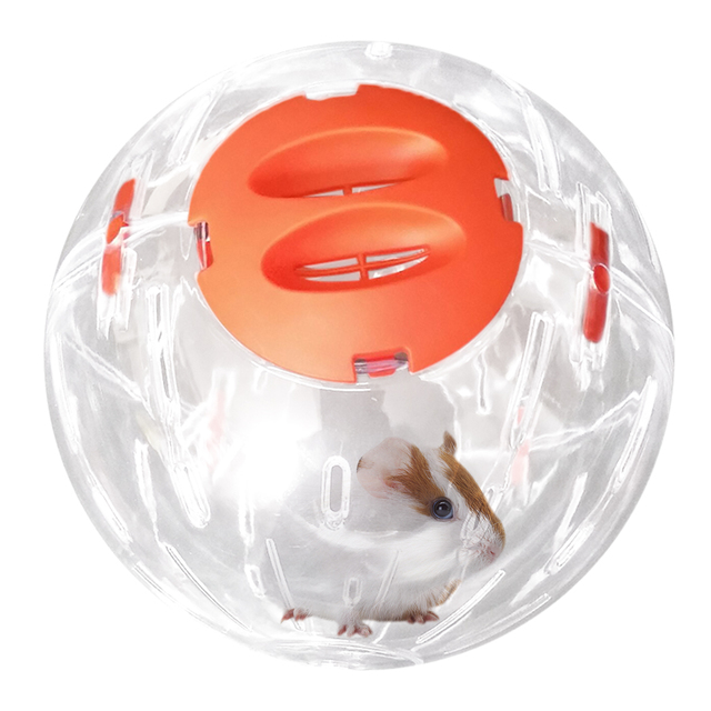 Hamster Breathable Clear Ball Without Bracket Hamster Toy Pets Product Small Running Ball 3  Colors Plastic Fit for Small Pets