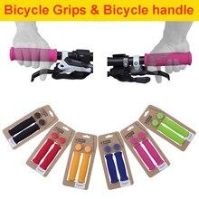 1 Pair Bicycle Handle Bar Grips Outdoor Bike Silicone Anti-slip Handlebar Anti-skid shock-absorbing Super Soft P30
