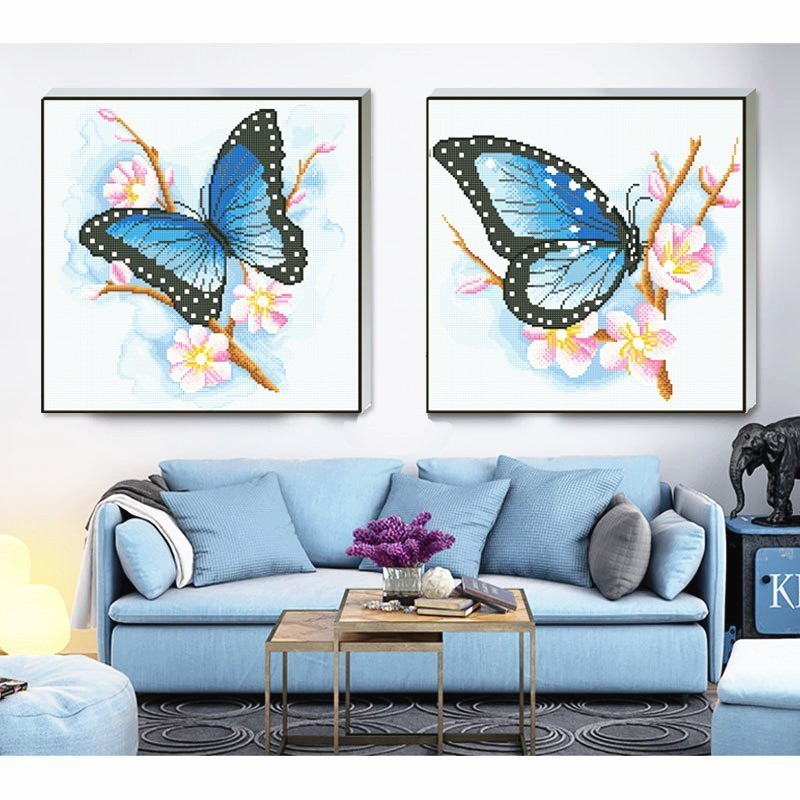 HUACAN Special Shape Diamond Painting Butterfly Picture Of Rhinestone Handwork Diamond Mosaic Sale 50x50 Decoration Home