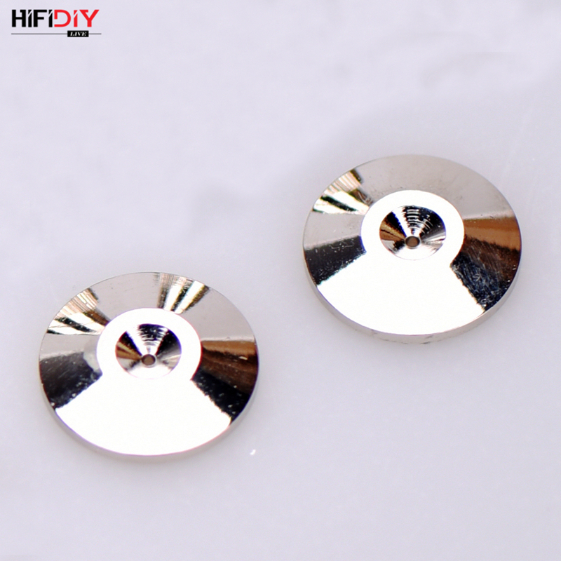 HIFIDIY LIVE  Speakers Stand Feet Foot Pad Pure Copper Silver Loudspeaker Box  Cone  Based On The Floor M11*21