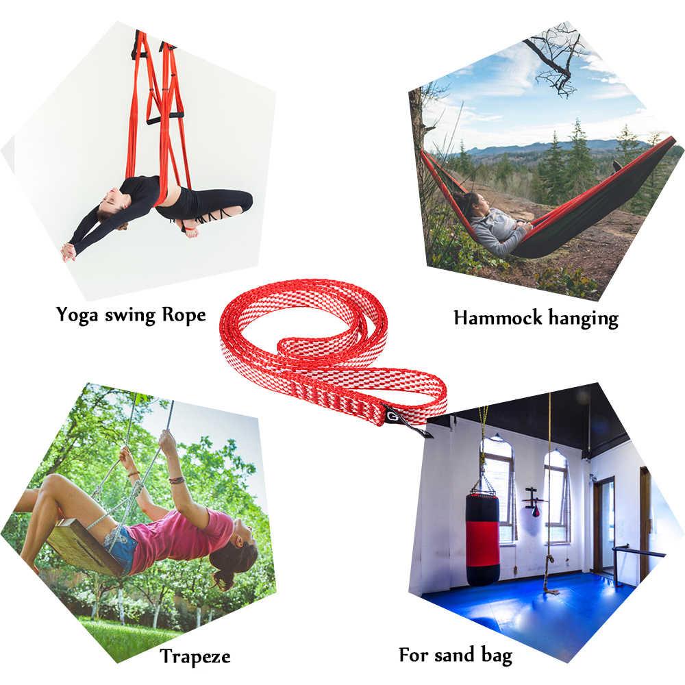 60 см/120 см 23KN походный гамак для путешествий подвесной ремень гамак ремень веревка для скалолазания бегун Слинг нейлон йога песок сумка ремешок
