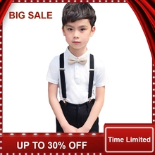 Boys Summer 4Pcs Wedding Suit with Bowtie Kids Formal Performance Suit Boys Shirt/T-shirt+Shorts Uniform Costume brand wedding suit for flower boys campus student formal dress gentleman kids blazer shirt pant bowtie 4pcs ceremony costumes