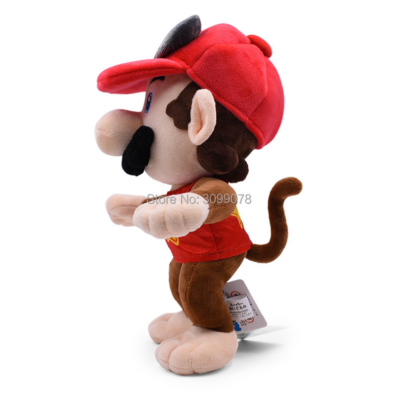 12inch 30CM Super Mario Bros Red Odyssey Cosplay Monkey Donkey Diddy Kong Plush Toys Stuffed Dolls Kids Toys Free Shipping 2