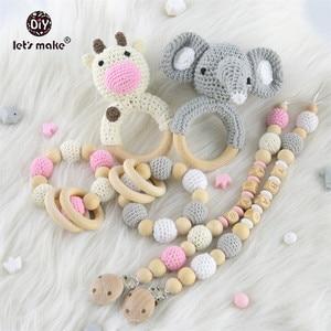 Image 5 - Baby Toys 1set Crochet Amigurumi Elephant Owl Rattle Bell Custom Newborn Pacifier Clip Montessori Toy Educational Baby Rattle