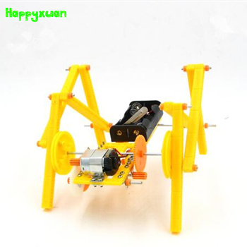 Happyxuan DIY Crawling Robot Dog Assembled Model Technology Science Experiment Toys Children Creative Educational Material Kits