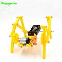 Happyxuan DIY Rastejando Robô Cão Modelo Montado Tecnologia Experimento Ciência Brinquedos Crianças Criativo Educacional Kits de Material|assembly model|science experiment|educational kit -