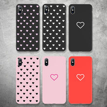 USLION 3D Relief Phone Case for iPhone 6 S 7 8 Plus Cartoon Love Heart Soft Silicon Cases For iPhone Xs XR XS Max X Cover Cqoue(China)