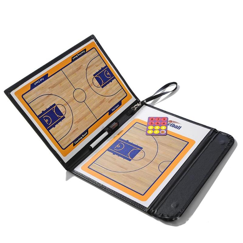 Basketball Tactical Board Coaching Double-sided Professional Coaches Clipboard Dry Erase Tactical Board Teaching Board