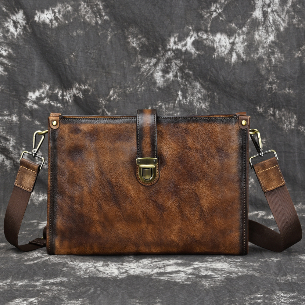High Quality Natural Skin Tote Handbag Retro Male Top Handle Travel Bags Genuine Leather Men Cross Body Shoulder Briefcase BagsHigh Quality Natural Skin Tote Handbag Retro Male Top Handle Travel Bags Genuine Leather Men Cross Body Shoulder Briefcase Bags