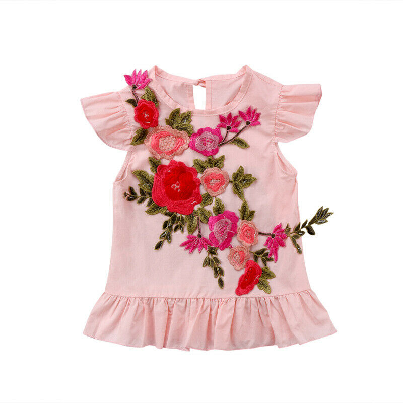 Fashion Toddler Kids Baby Girl Ruffles Sleeve Embroidery Flower Dress Princess Girls Pageant Party Dresses ClothesFashion Toddler Kids Baby Girl Ruffles Sleeve Embroidery Flower Dress Princess Girls Pageant Party Dresses Clothes