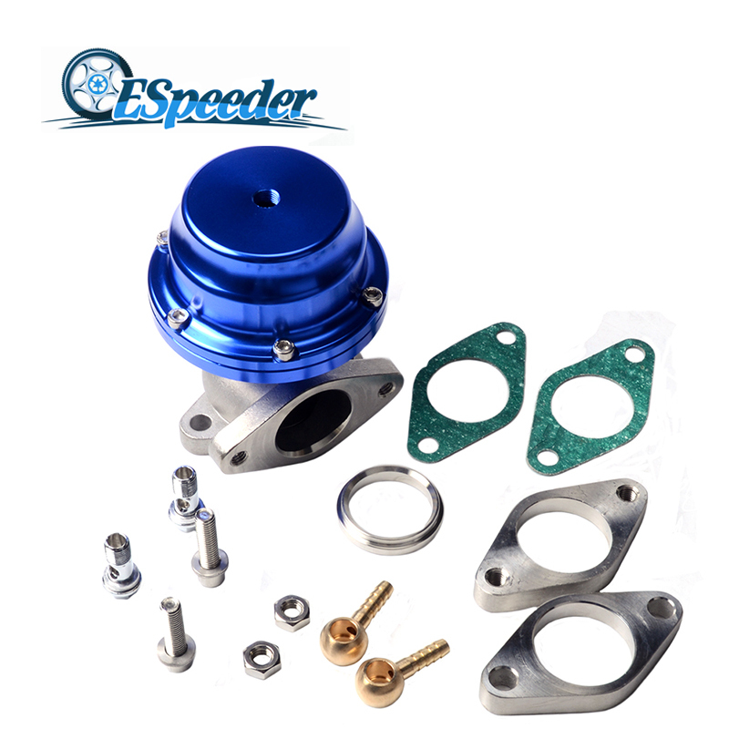 ESPEEDER 38mm Manifold Wastegate External Turbo High Performance Adjustable Pressure V Band Waste Gate With Dump Ring Universal