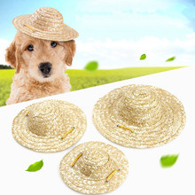 1PC Decorative Adjustable Portable Lightweight Protective Pet Sombrero Straw Hat Beach Hat Sun Bucket Cap for Dog Cat Puppy(China)