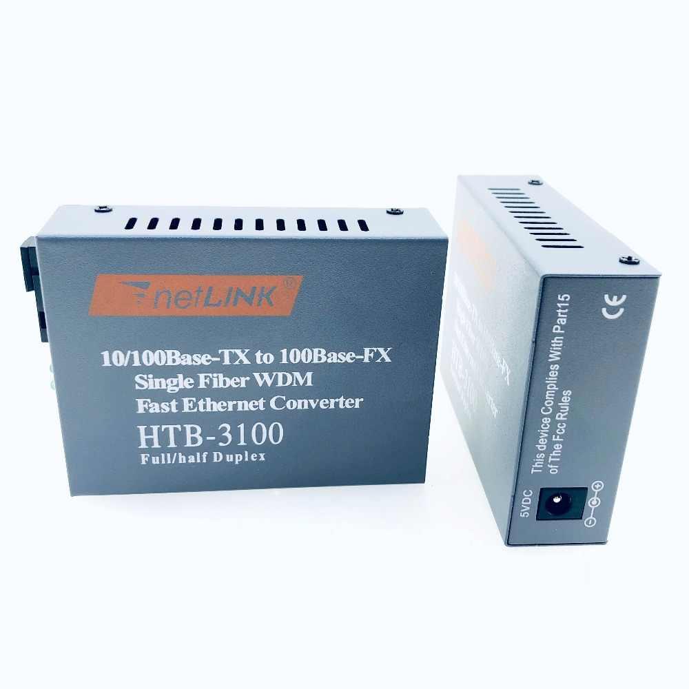 1 ペア HTB-3100 光ファイバメディアコンバータ繊維トランシーバ単繊維コンバータ 20 キロ SC 10/100 メートルシングル単繊維