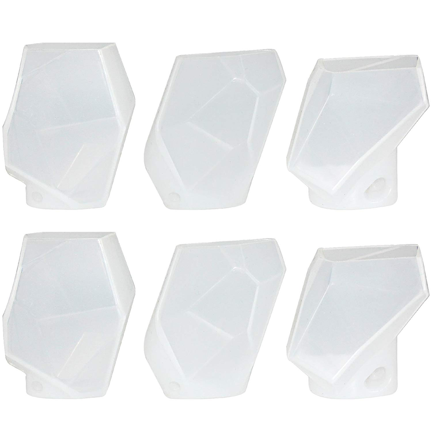 Large Multi-Faceted Gem Stone Resin Epoxy Mold For Jewelry, Soap Making,  Cabochon Gemstone Crafting Projects 6-Pack
